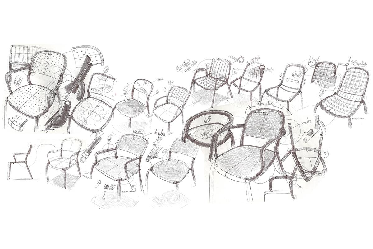 Hyba, la gamme de mobilier Mixmatiere de Valentin Dequidt