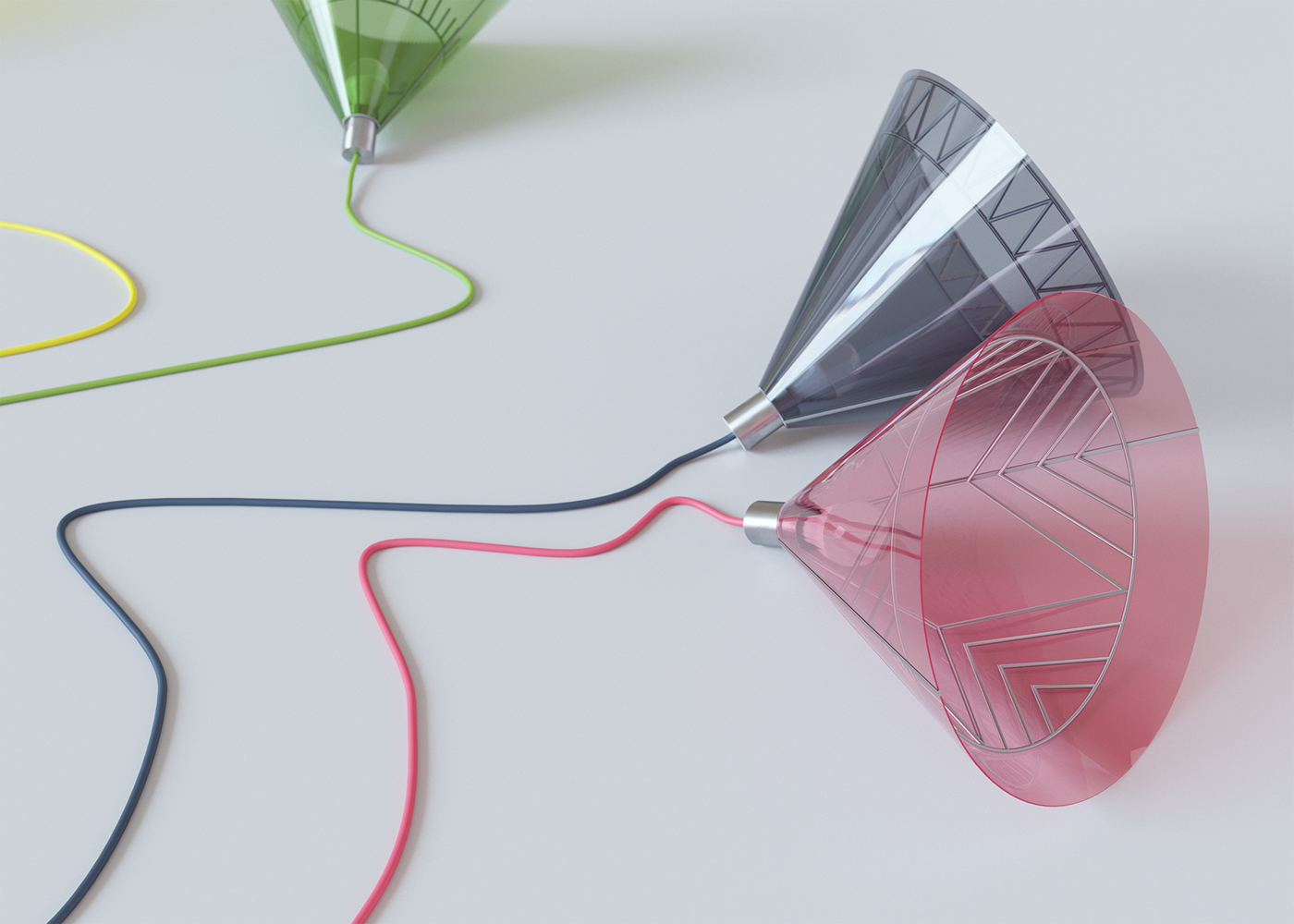 Polychrome Lamps, les suspensions pop d'Ihor Havrylenko