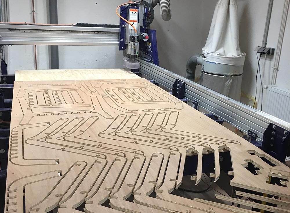 Line Up d'Atelier DR, fabrication en FabLab