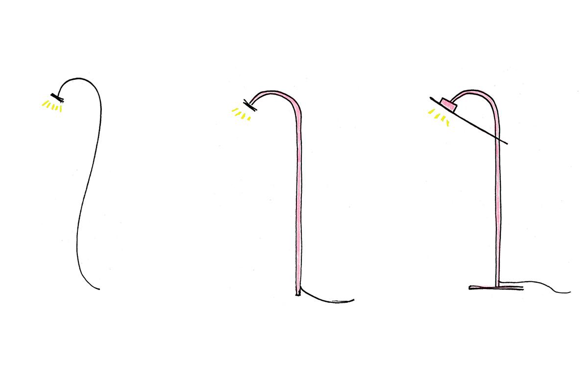 Flamingo, la lampe de table de Mario Alessiani
