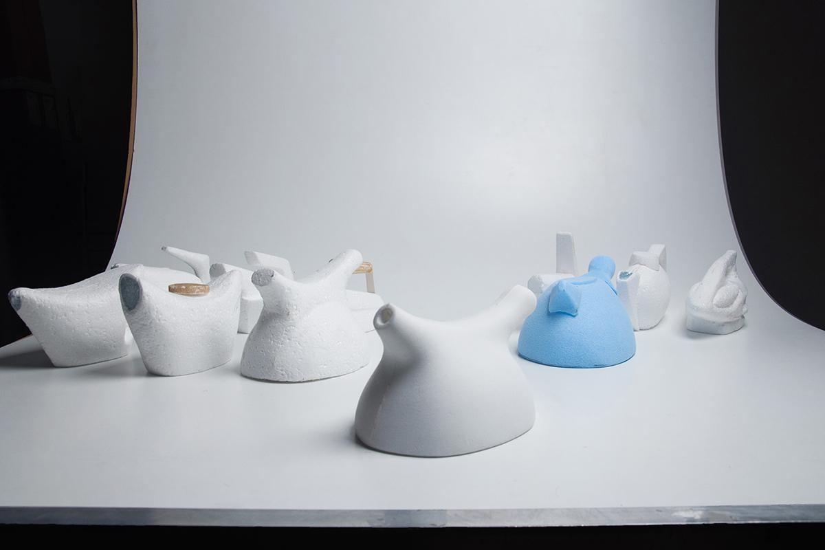 Projet étudiant : Birdy the teapot, le set de thé de Matthieu Muller
