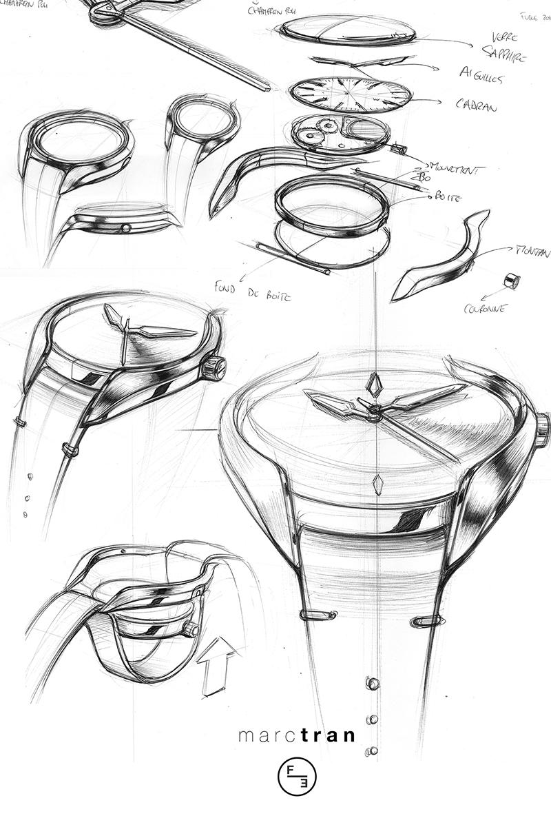Fugue, les montres contemporaines au design signé Marc Tran