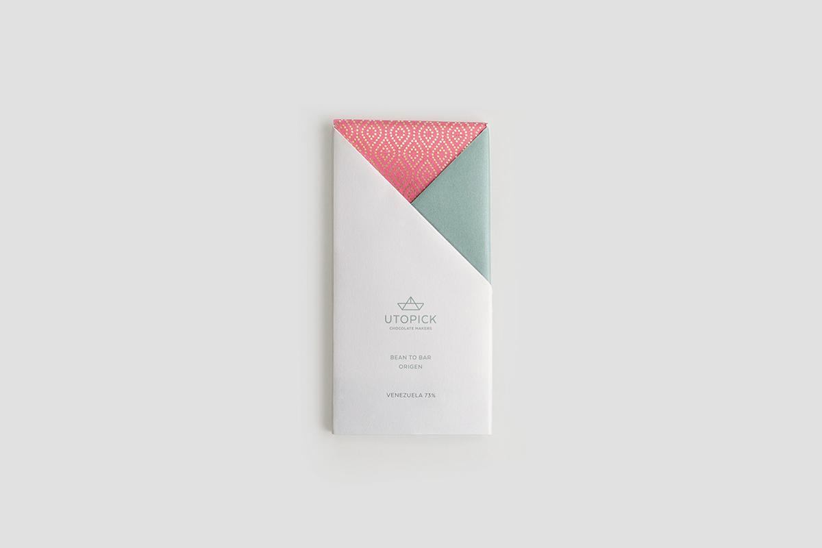 Utopick, le chocolat à l'identité géométrique signée Lavernia & Cienfuegos