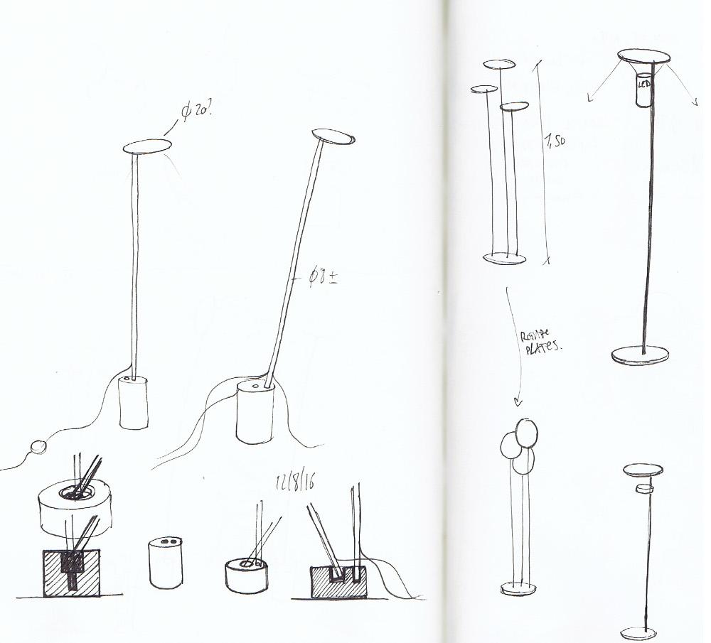 CIRCLES lampe de sol métal et marbre par Kutarq