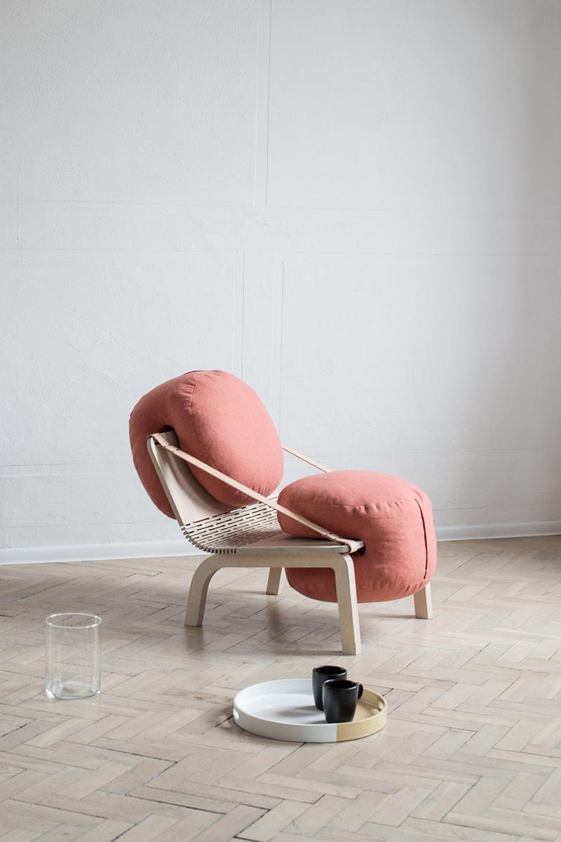 Dango, le fauteuil modulaire et épuré d'Agneszka Kowal