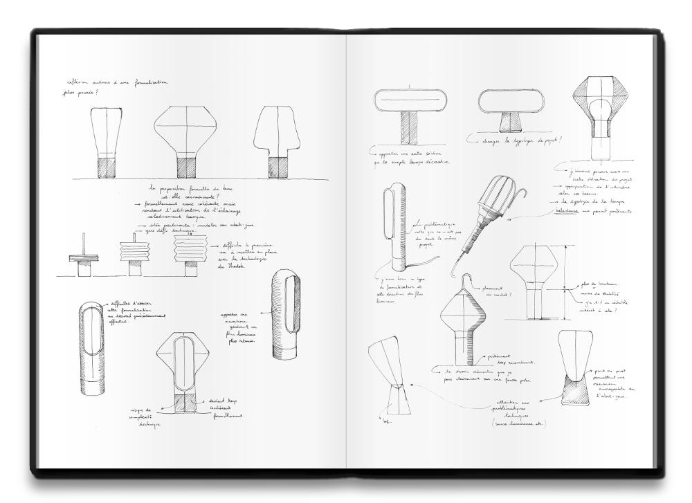 Lampes à poser Réminiscences par Alix Videlier