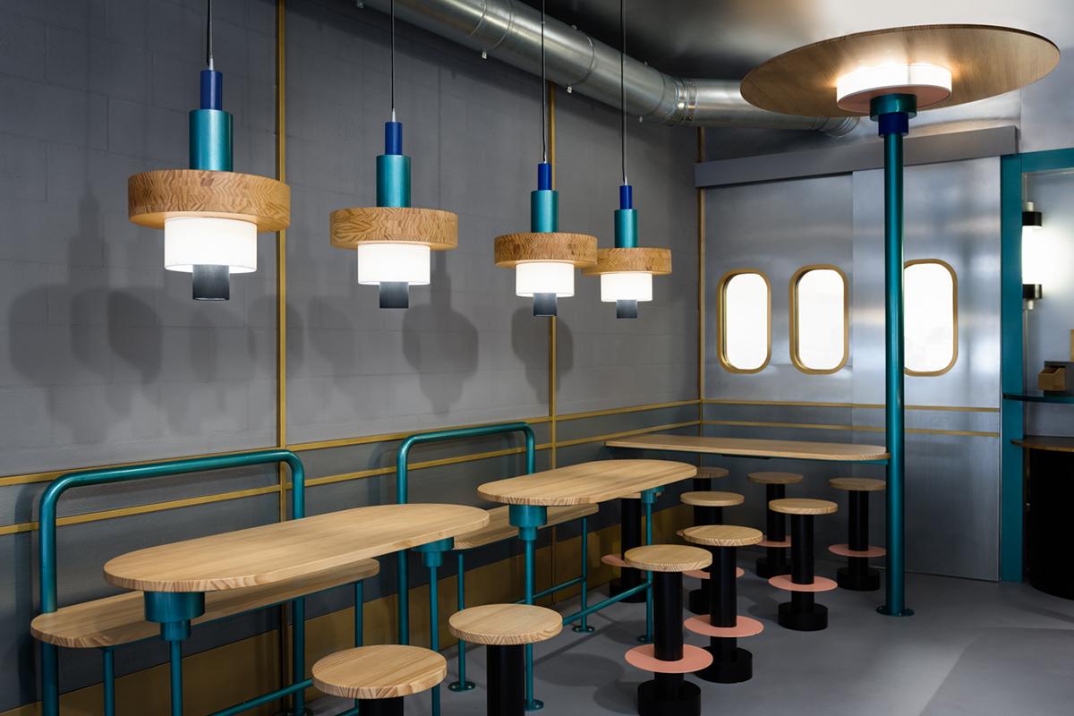 Kento, la chaine alimentaire orientale au design d'espace signé Masquespacio