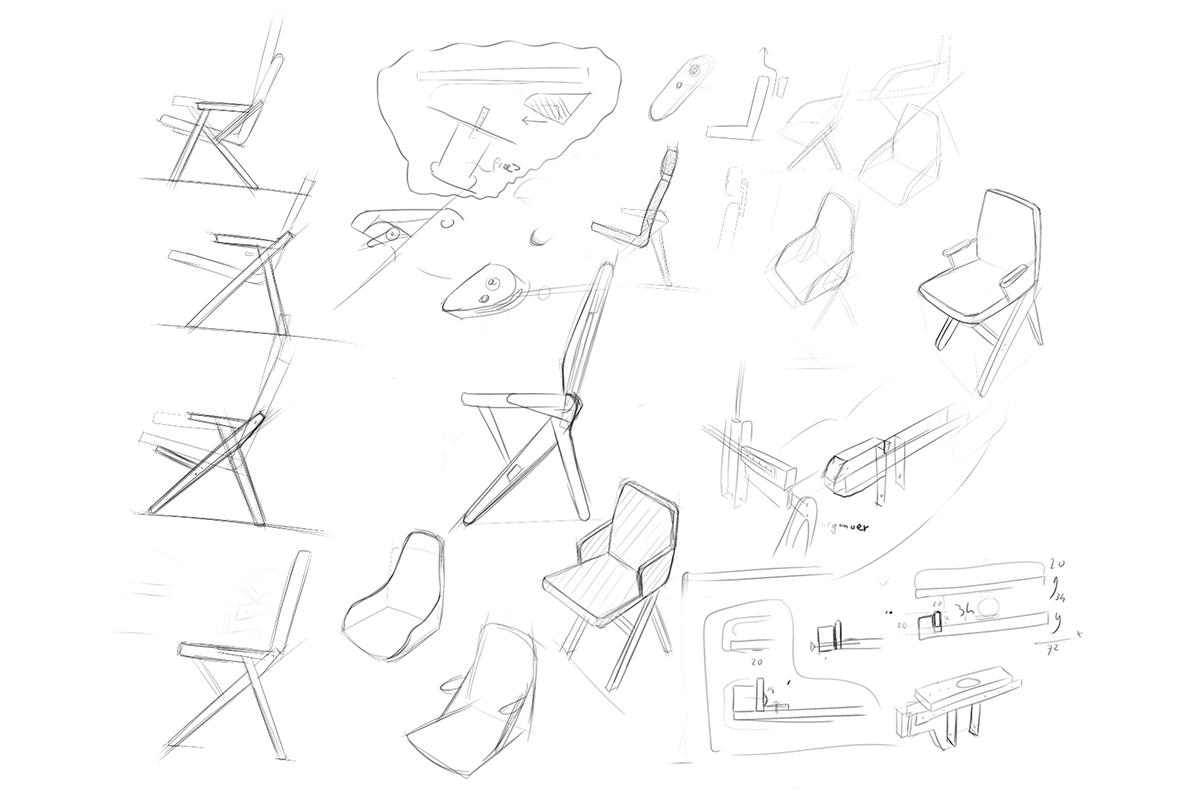 Crowdfunding : Hybride Chair, la chaise convertible du Studio Lorier