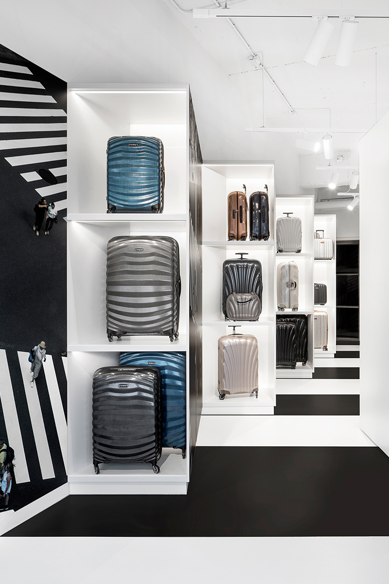i29 Interior Architects signe le showroom de Samsonite à Amsterdam