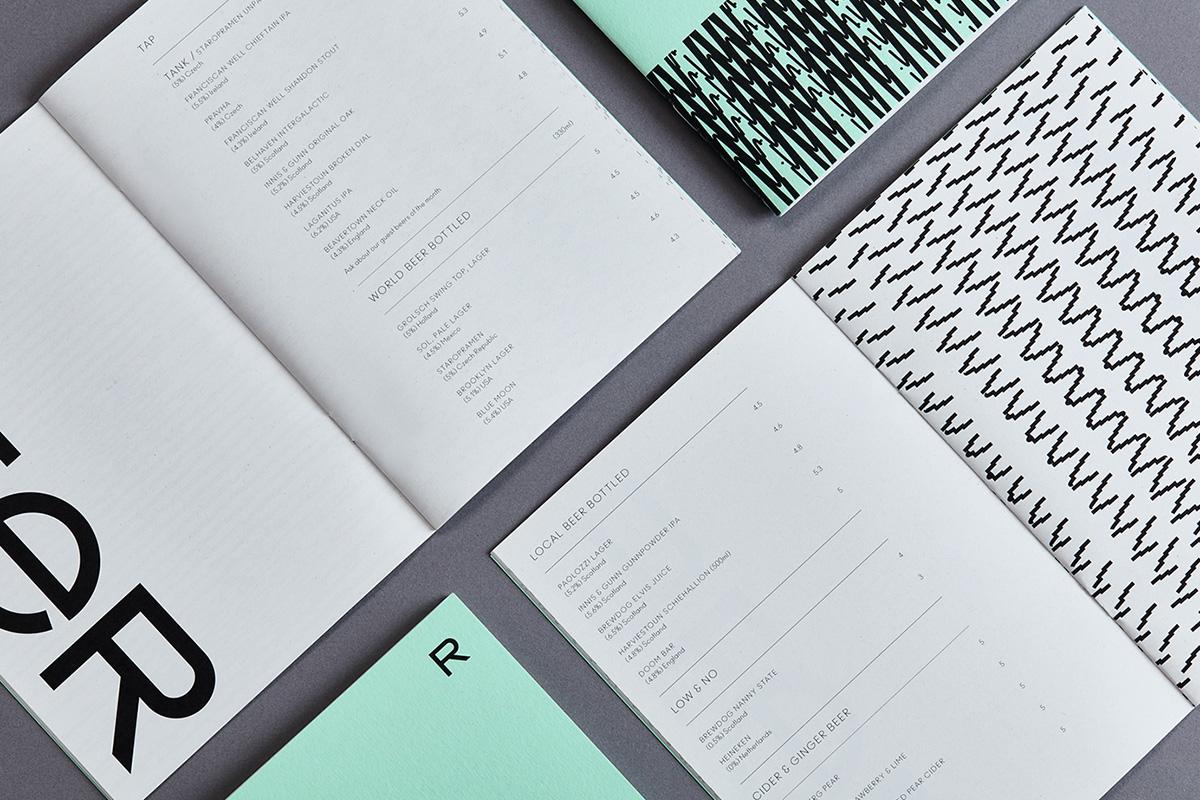 L'identité visuelle de l'auberge, restaurant et bar Rabble signée Touch Agency