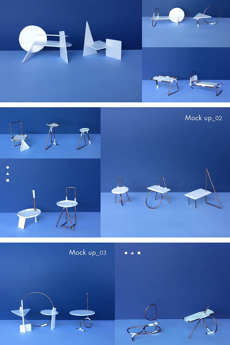 Projet étudiants : Futura Font Project, une collection de meuble d'appoint issue de la Police Futura
