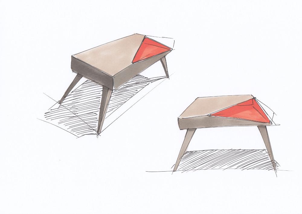 Oxidée, le mobilier à consonance métallique