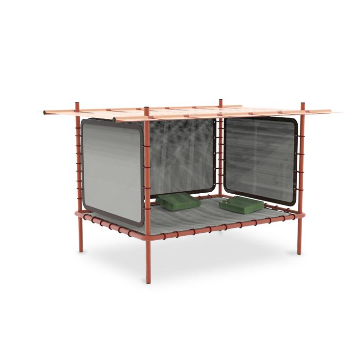 Abri est une structure d'extérieur qui vous permet de faire une pause dans le quotidien par Thibault Malavieille