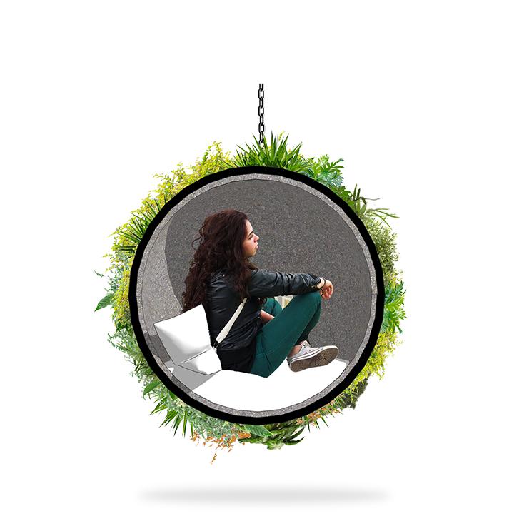 Meïso est une bulle qui offre à la fois un élément fort de décoration, un moment de pause dans l'habitat mais aussi de la nature chez vous par Florent Vanoni & Lauren Perrenot
