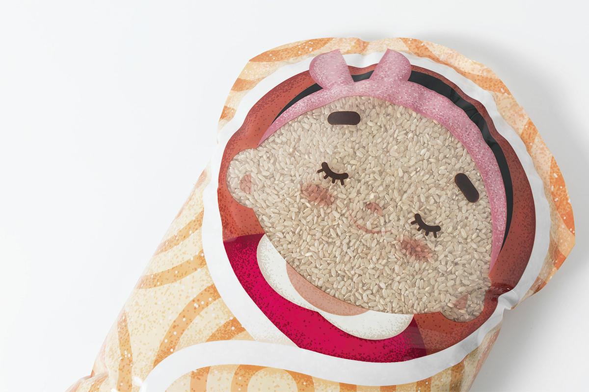 Packaging : Gimme a hug, le paquet de riz original du studio Rong