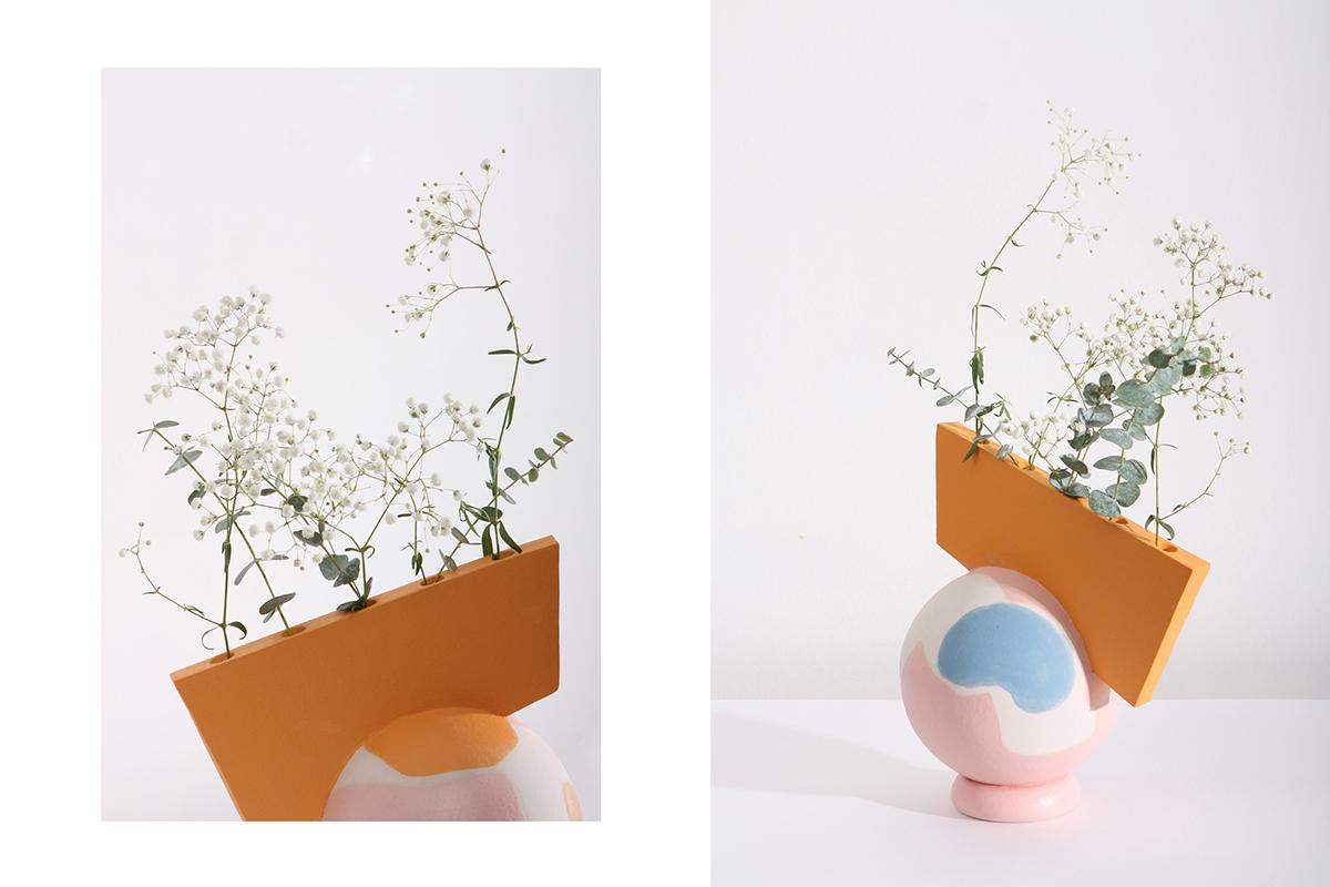 Les vases colorés en céramique de la collection Meme signée Katia Tolstykh