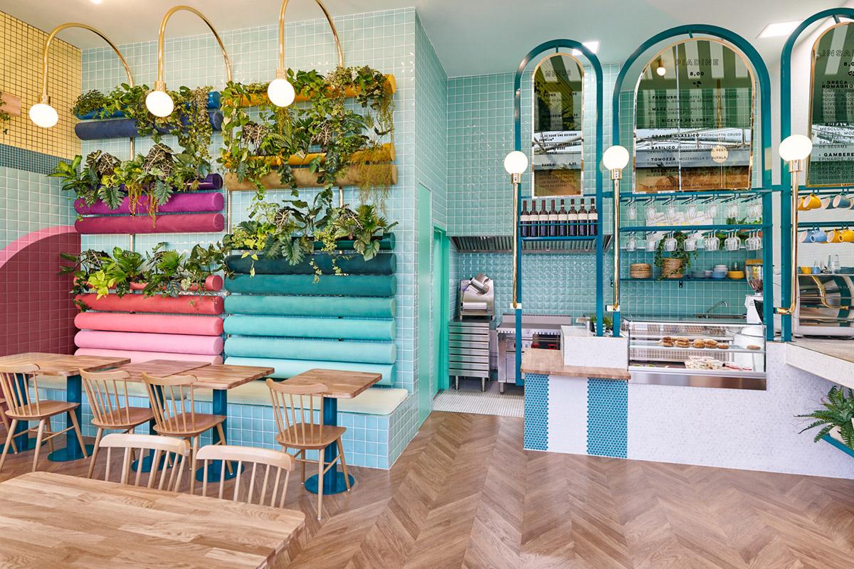 Masquespacio signe le design d'espace du restaurant italien Piada à Lyon