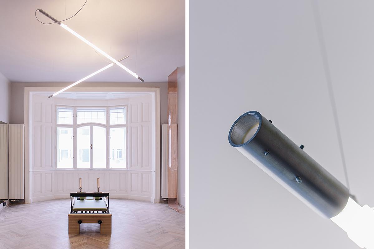 Un studio de pilates à l'atmosphère singulière signé Riebenbauer studio