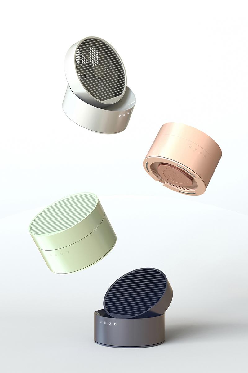 """Slide, le ventilateur au concept """"slide to unlock"""" par Hooseong Lee et Beomsic Jeon"""