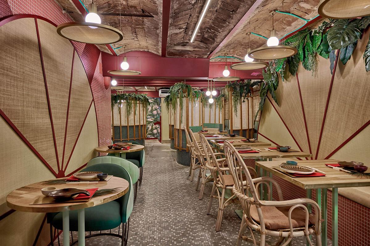 Kaikaya, le premier restaurant tropical de sushi à Valence signé Masquespacio