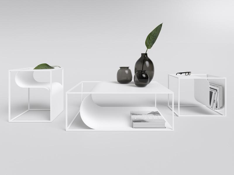 FOLD TABLES mobilier courbé par Max Voytenko