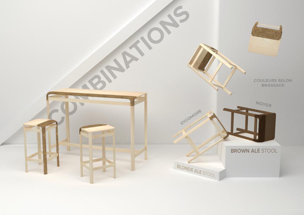 Le mobilier brassé par Franck Grossel