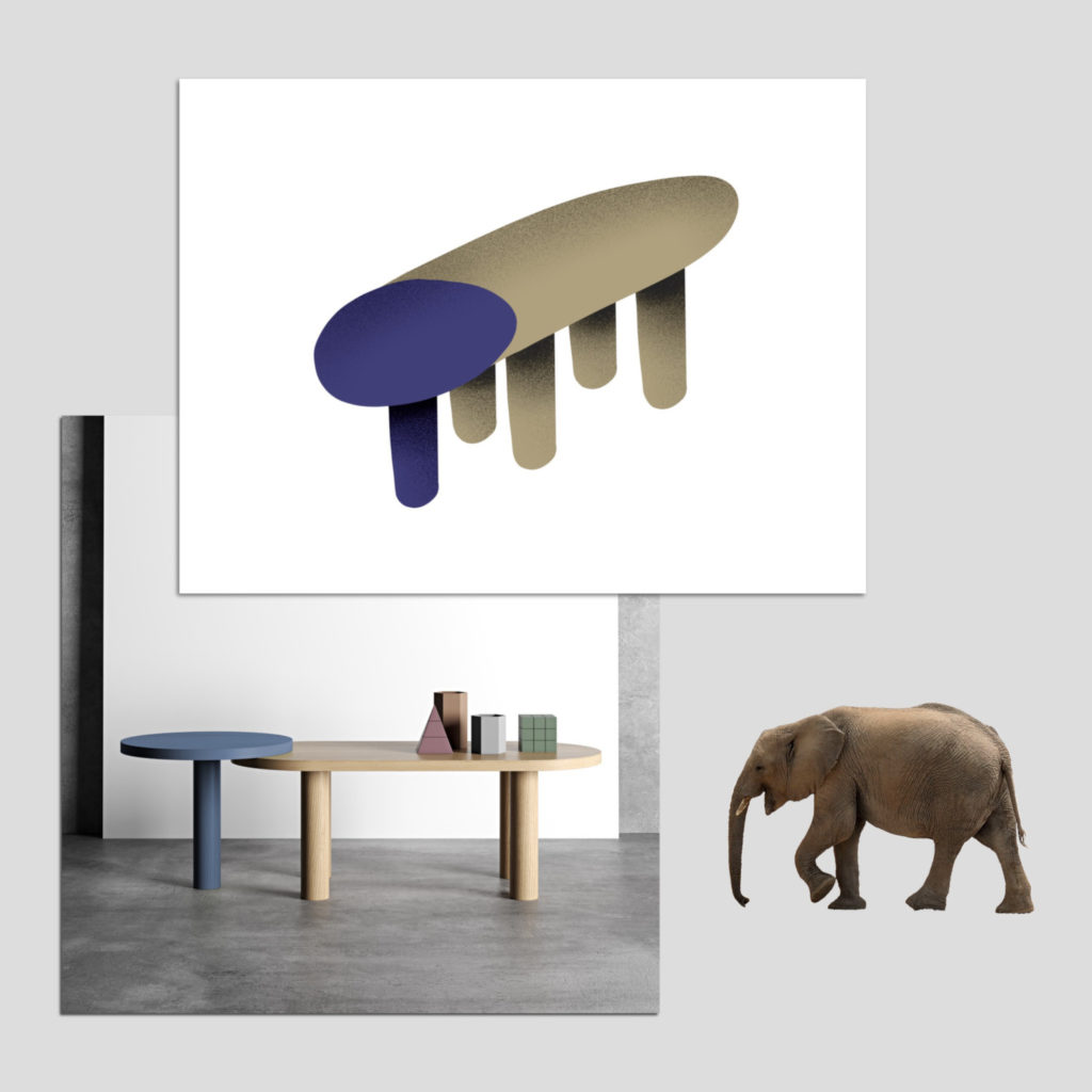 Elephant coffee table par Pavel Vetrov