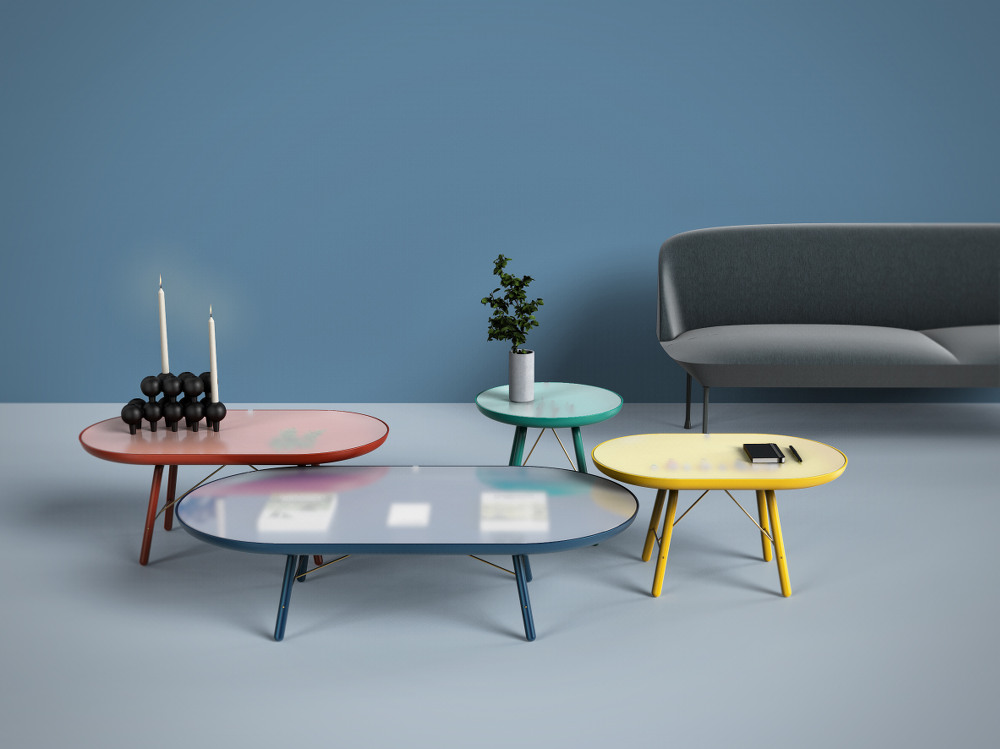 ECTO famille de table basse vitrine par Piks Design