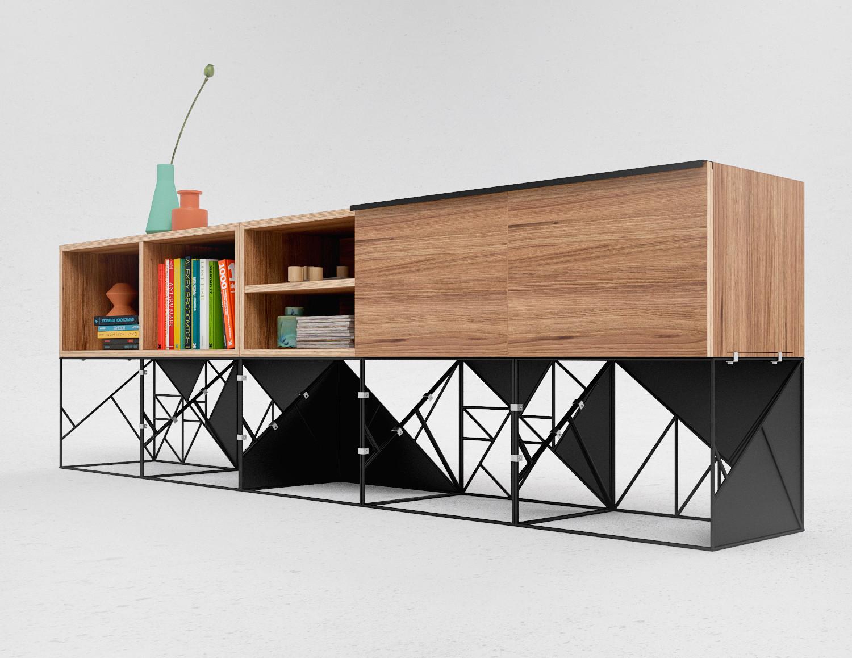 Commode modulaire Z par Marina Bovkun