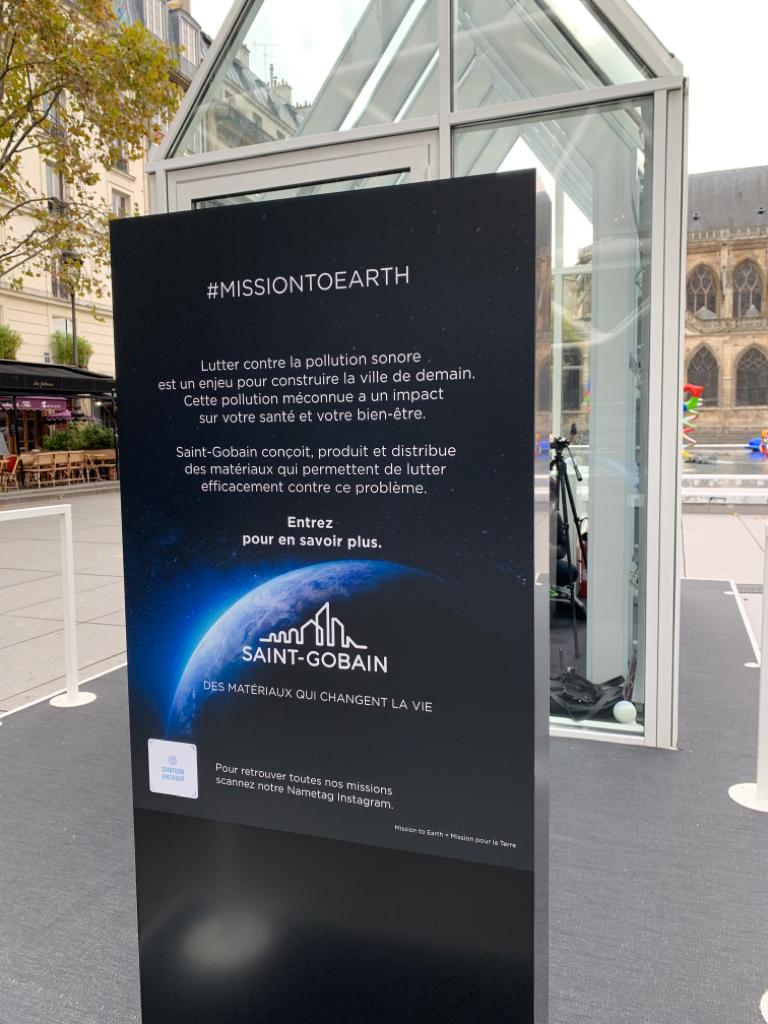 Design du silence ? Mission Earth #1 par St Gobain